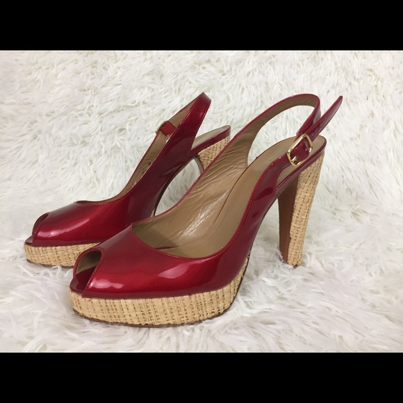 435e7b6fe5d7 Stuart Weitzman Red Patent Leather Heels Size 65